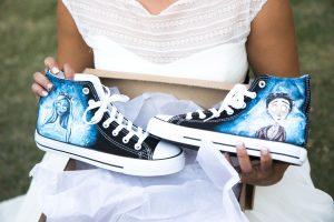 Zapatillas personalizadas por una amiga para la ocasión